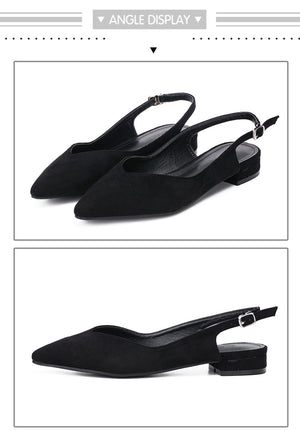 Fashion Black Low Heel Pumps-shoes-Trendy-JayBoutique-black shoes-4.5-Trendy-JayBoutique