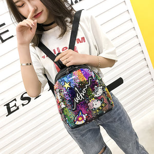 Mini Sequined Backpack with Cute embroidery-handbag-Trendy-JayBoutique-4-Trendy-JayBoutique
