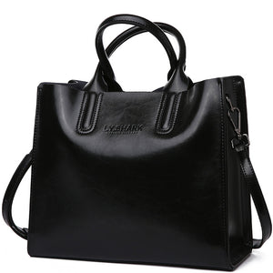 Genuine Leather - Women's Messenger Shoulder Bag-Trendy-JayBoutique-Black-(30cm<Max Length<50cm)-Trendy-JayBoutique