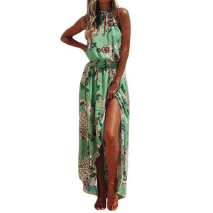 Chiffon Floral Maxi Dress-Chiffon Dress-Trendy-JayBoutique-GN-S-Trendy-JayBoutique