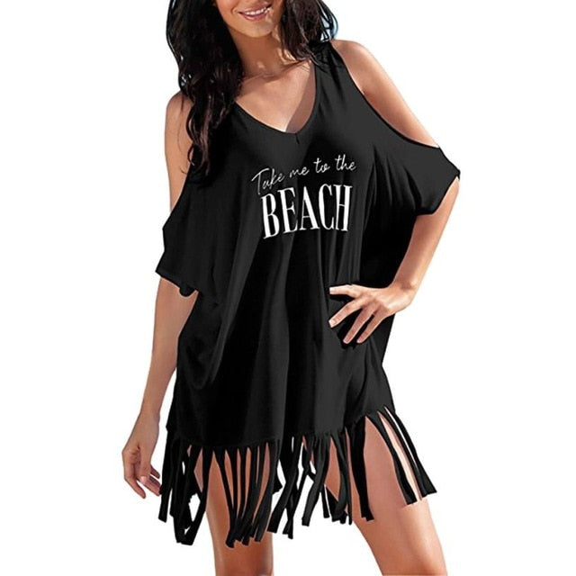 Baggy Beach Dress-Beach Dress-Trendy-JayBoutique-Black-S-Trendy-JayBoutique