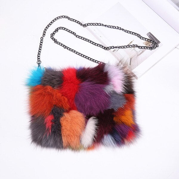 Luxury - Colorful Real Fur Clutch Bag-handbag-Trendy-JayBoutique-updated design-29x20x2cm-Trendy-JayBoutique