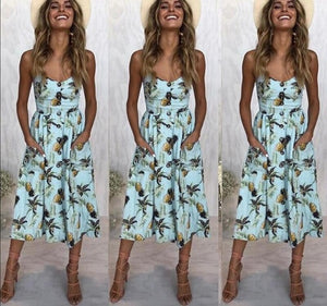 Casual Vintage Sundress-Floral Dress-Trendy-JayBoutique-0822-blue-S-Trendy-JayBoutique