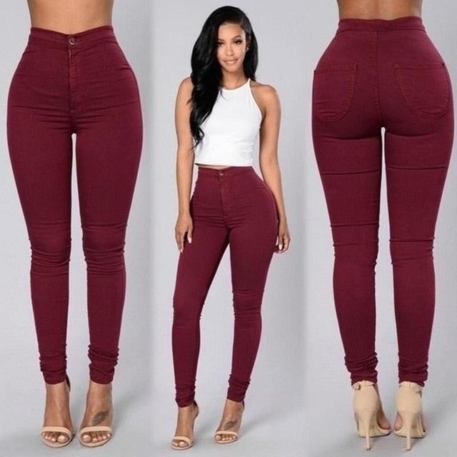 'Spring' Skinny Pencil Pants-Trendy-JayBoutique-Red-S-Trendy-JayBoutique