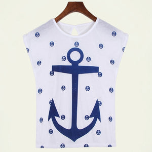 Boat Anchor Cotton T-Shirt-Tees-Trendy-JayBoutique-shubai-L-Trendy-JayBoutique