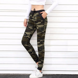 'Camouflage' Women's Joggers-Joggers-Trendy-JayBoutique-Camo-S-Trendy-JayBoutique