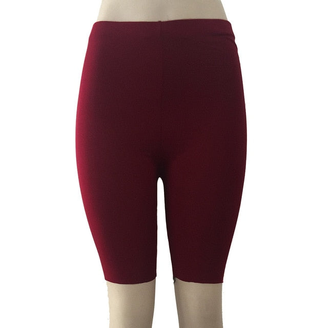 High Elasticity Short Leggings-Fitness Pants-Trendy-JayBoutique-Wine-S-Trendy-JayBoutique