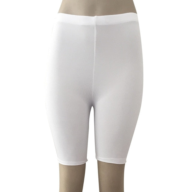 High Elasticity Short Leggings-Fitness Pants-Trendy-JayBoutique-White-S-Trendy-JayBoutique