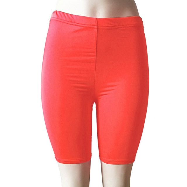 High Elasticity Short Leggings-Fitness Pants-Trendy-JayBoutique-Watermelon Red-S-Trendy-JayBoutique