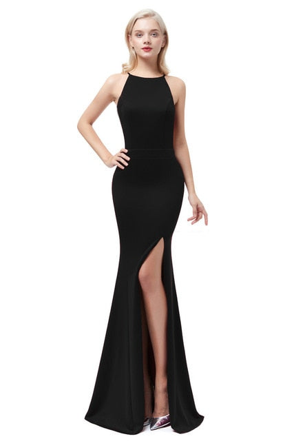 Satin Mermaid Evening Dress-Evening Dress-Trendy-JayBoutique-Black-2-Trendy-JayBoutique
