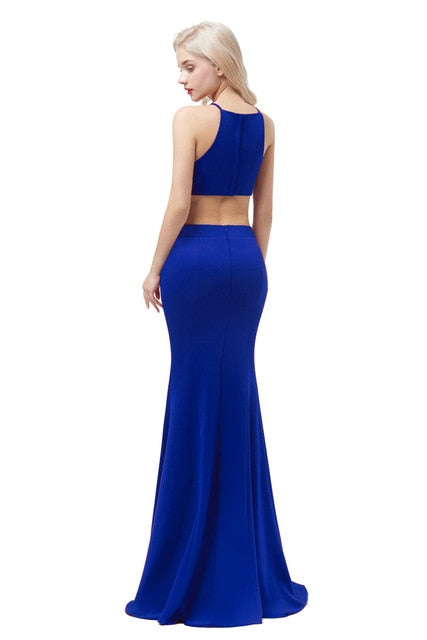 Satin Mermaid Evening Dress-Evening Dress-Trendy-JayBoutique-Blue-2-Trendy-JayBoutique