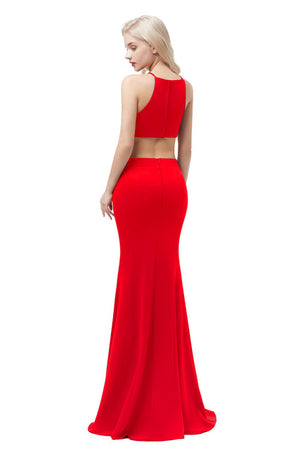 Satin Mermaid Evening Dress-Evening Dress-Trendy-JayBoutique-Red-2-Trendy-JayBoutique