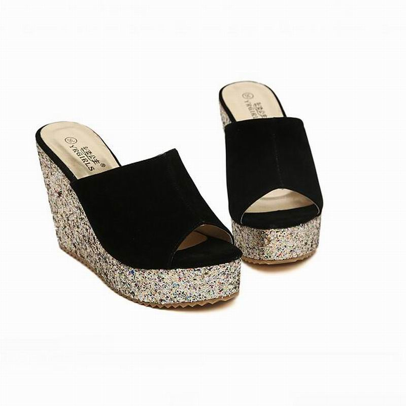 2019 Fashion Sequins High Heel Slippers-Slippers-Trendy-JayBoutique-Black-4-Trendy-JayBoutique