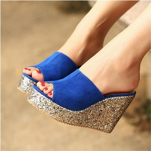 2019 Fashion Sequins High Heel Slippers-Slippers-Trendy-JayBoutique-Blue-4-Trendy-JayBoutique