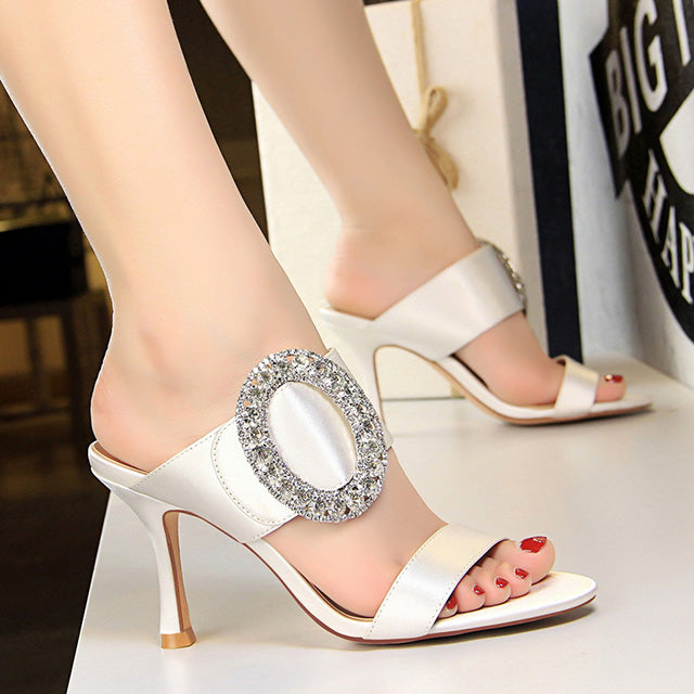 Women - Crystal Party Shoes-Slippers-Trendy-JayBoutique-WHITE-4.5-Trendy-JayBoutique