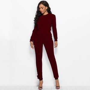 New-Ruffles Solid 2-Piece Tracksuit Set-tracksuit-Trendy-JayBoutique-Burgundy-XXL-Trendy-JayBoutique