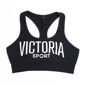 'Victoria' Workout Cropped Tank Top Vest-sports bra-Trendy-JayBoutique-Black-S-Trendy-JayBoutique