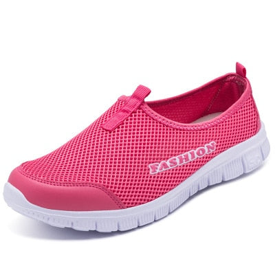 Breathable Mesh Light Flat Loafers-shoes-Trendy-JayBoutique-pink red-6-Trendy-JayBoutique