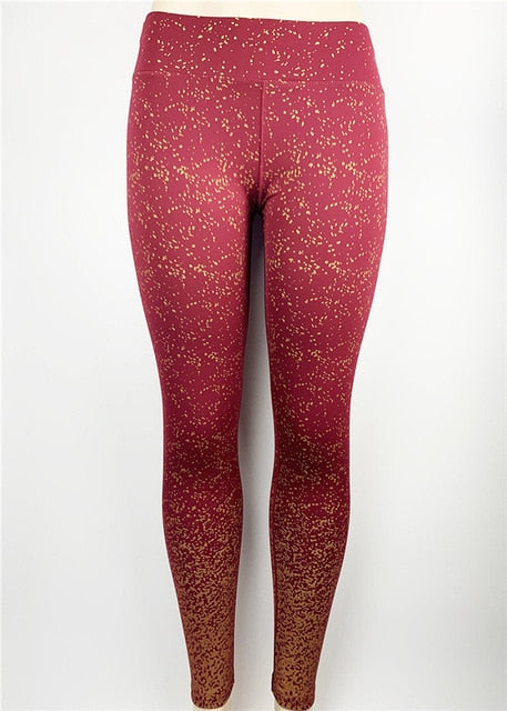 Rose-Gold Print Leggings-Leggings-Trendy-JayBoutique-red-XS-Trendy-JayBoutique