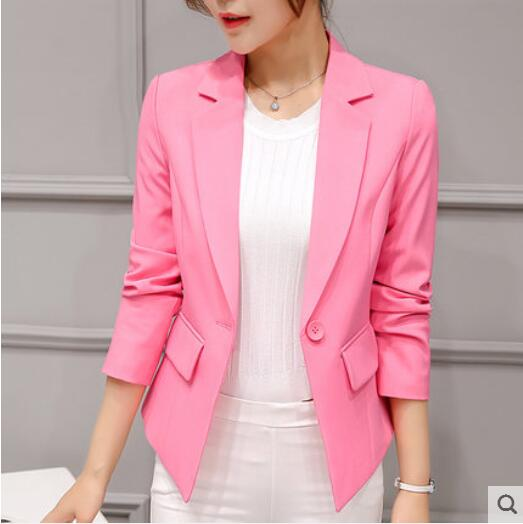 Slim-Office Lady Jacket-Blazer-Trendy-JayBoutique-Pink 317-S-Trendy-JayBoutique