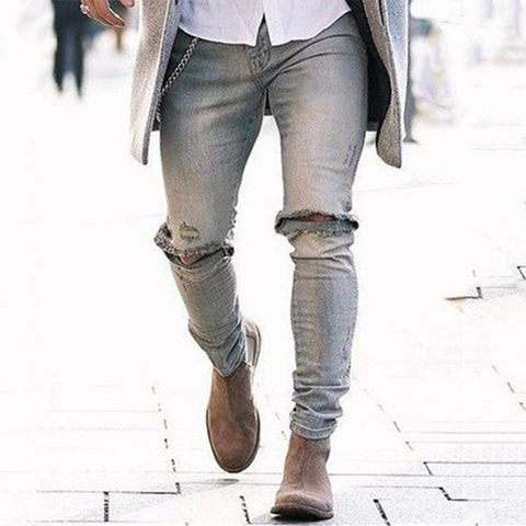 Mens  Fashion Tight Jeans Pants