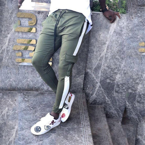 Fashion Elastic Waist Slim Jogger Pants