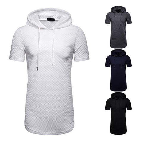 Summer Men's Hooded Short Sleeve T-Shirt