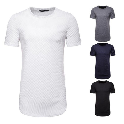Summer Men's Rhombic Short-Sleeved T-Shirt