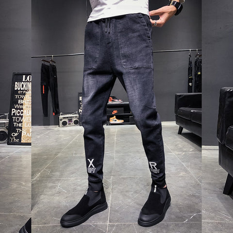 Men's Slim Embroidered Denim Pants