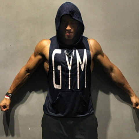 GYM Graphic Sleeveless Hoodie