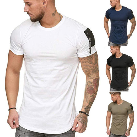 Solid Slim-Fit Pocket T-Shirt