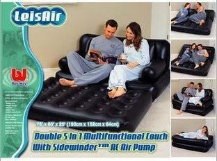 5-in-1 Inflatable Sofa Air Bed/Couch