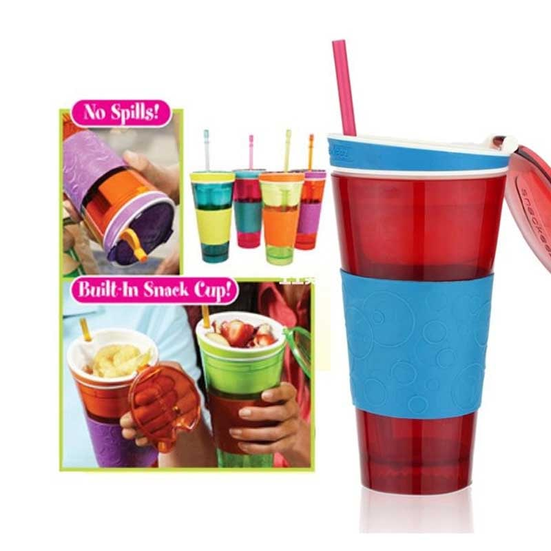 BUY 1 TAKE 1: 2-IN-1 SPILL PROOF Snack and Drink Bottle