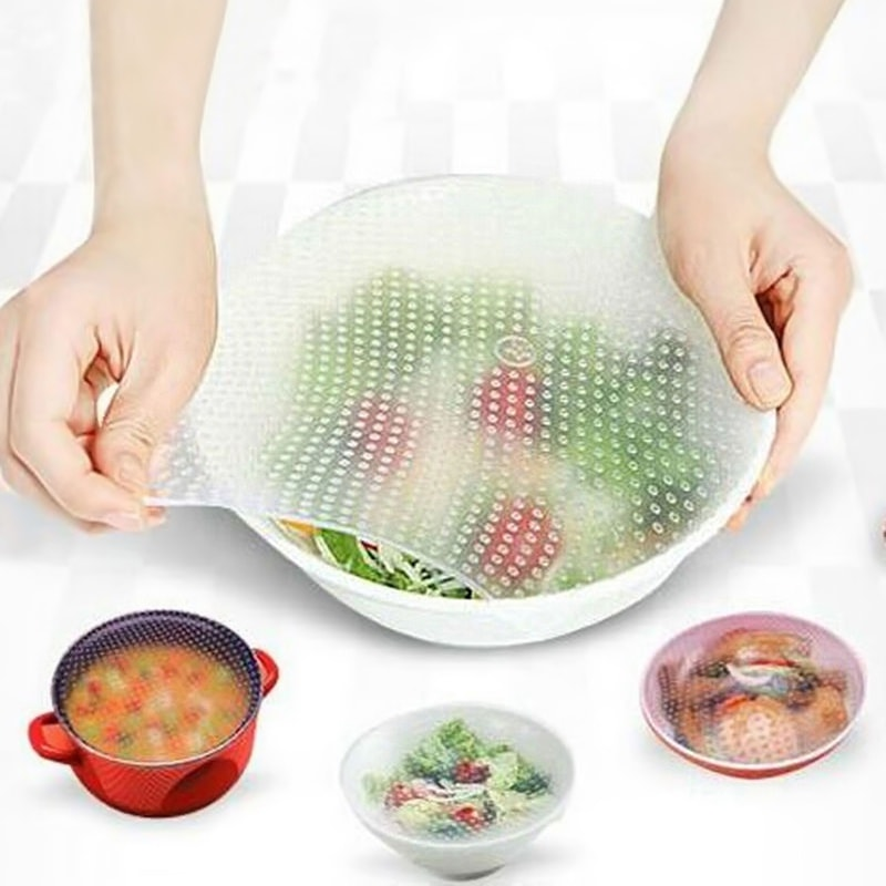 STAY FRESH SILICON FOOD WRAP (4PCS SET)