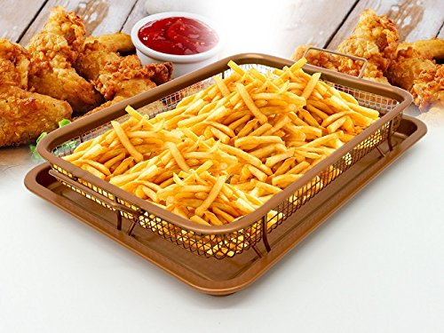 2 PCS. COPPER CRISPER NON-STICK TRAY