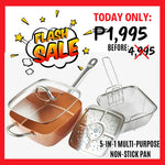 Copper Pan 5 in 1 Multi-Functional Non-Stick Pan (Complete Set)