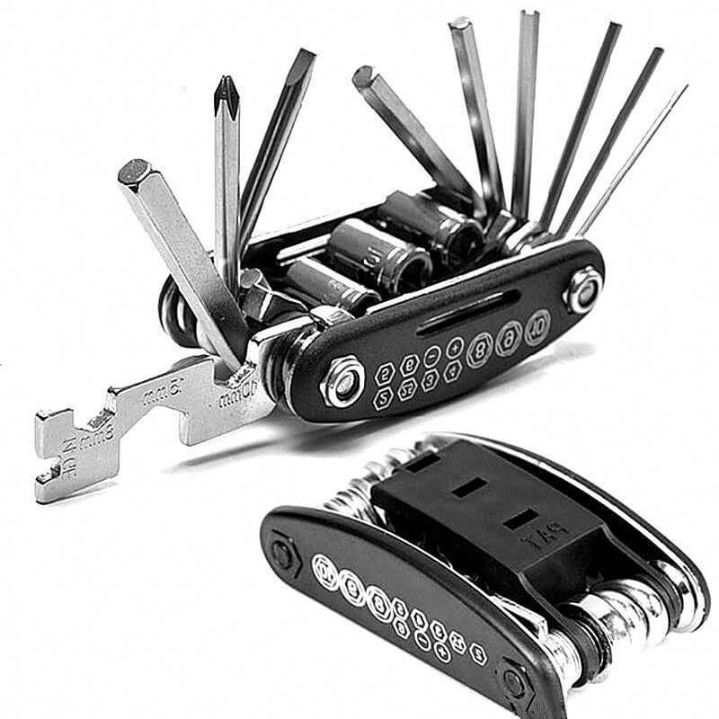 Multi-Functional 15 -in-1 Bicycle and Motorbike Repair Tool Kit