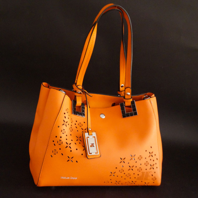 SAC SHOPPING HORTENSIA BY JACQUES ESTEREL, orange, Sac à Elle, Sac, BAGAGE, TED LAPIDUS JACQUES ESTEREL, STEVE MADDEN