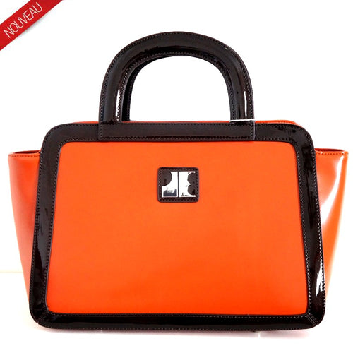 SAC PORTE MAIN LE RETRO OLYMPIA BY JACQUES ESTEREL, orange, Sac à Elle, Sac, BAGAGE, TED LAPIDUS JACQUES ESTEREL, STEVE MADDEN