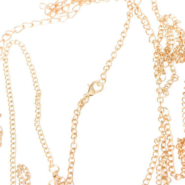 """Scarlett"" Shoulder Body Chain Necklace - Glitzies Accessories"