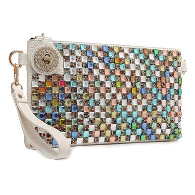 """Farrah"" Austrian Rhinestone Wristlet or Clutch - Glitzies Accessories"