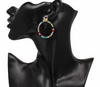"""Poppy"" Rainbow Rhinestone Hoops - Glitzies Accessories"