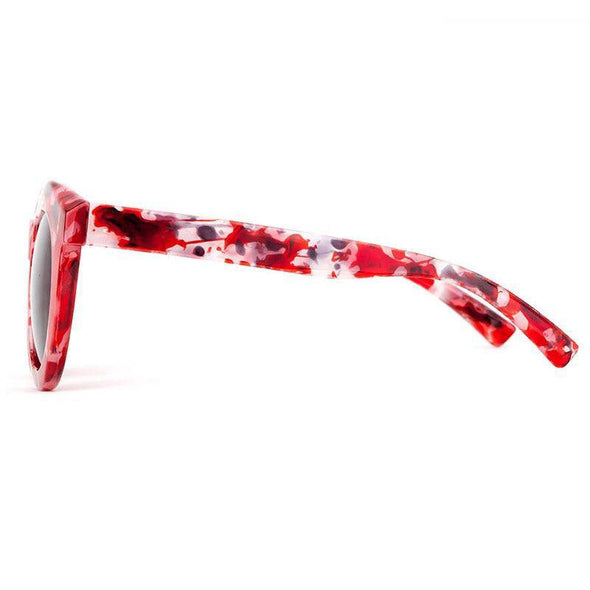 """Ember"" Round Marbled Sunglasses - Glitzies Accessories"