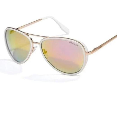 """Harlow"" Metal Frame UV400 Vintage Pilot Sunglasses - Glitzies Accessories"
