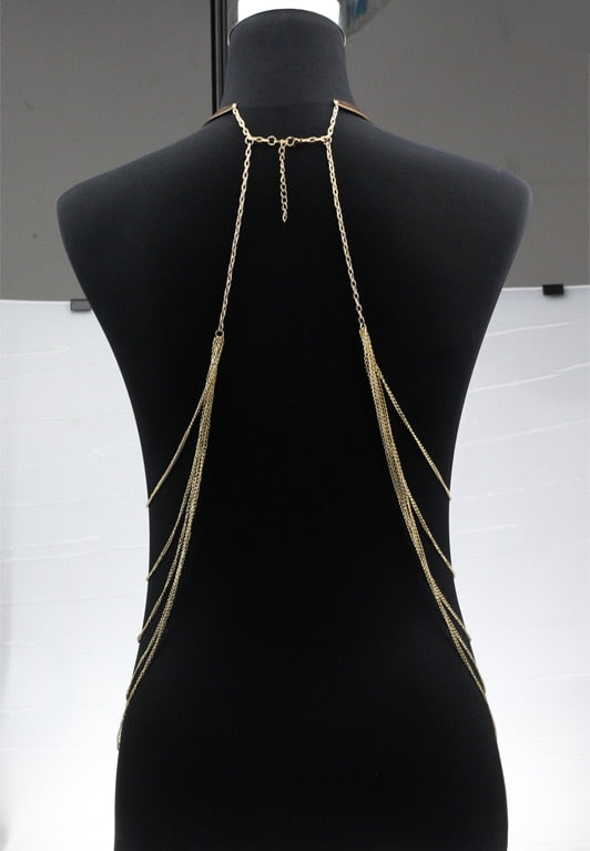 """Nadia"" Sexy Body Necklace - Glitzies Accessories"