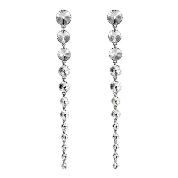 """Lennox"" Exaggerated Gem Drop Earrings - Glitzies Accessories"