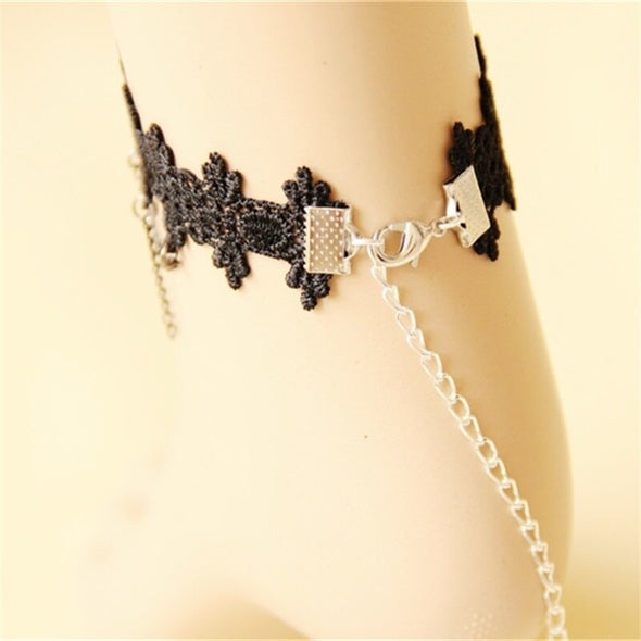 """Geneva"" Lace Anklet - Glitzies Accessories"
