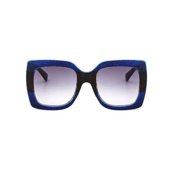 """Gizzele"" Oversized Square Sunglasses - Glitzies Accessories"