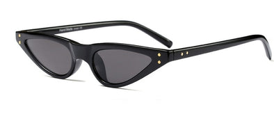 """Katty"" Small Triangle Cat Eye Sunglasses - Glitzies Accessories"