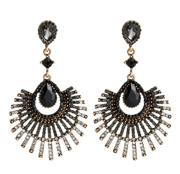 """Lyla"" Vintage Beaded Earrings - Glitzies Accessories"